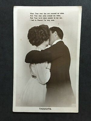 Vintage Postcard - Song Card #9 - Hart Publishing - Thoughts
