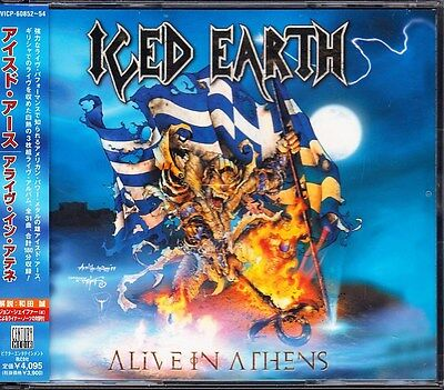Iced Earth Alive In Athens 1999 Japan 3 CD 1st Press With Obi VICP-60852/4 Rare