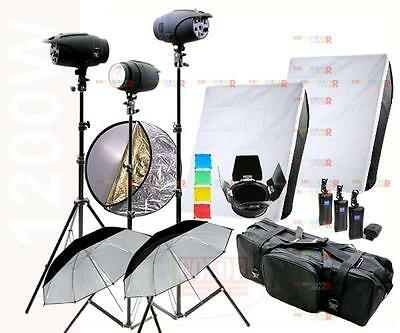 1200W  Studio Flash Strobe Photography Lighting Kit 3 x 400 Light