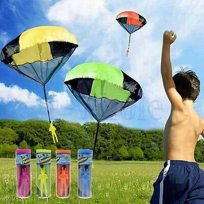 Kids Children Tangle Free Toy Hand Throwing Parachute Kite Outdoor Play Game GW