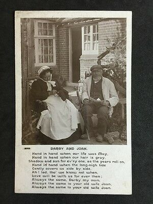 Vintage Postcard - Song Card #14 - Rotary - Darby & Joan