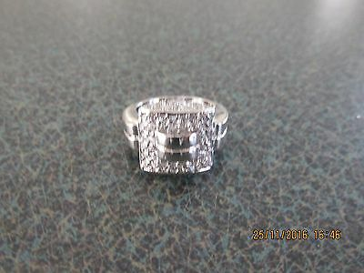 Sterling Silver Cubic Zirconia Ring 925 Size 9 Or R