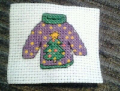 Completed cross stitch