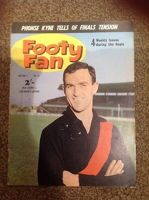 AFL VFL Footy Fan Magazine Vol 1 No 12 1963 Aussie Rules Record Essendon finals