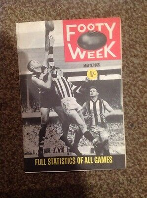 AFL VFL Footy Week Magazine 8 May 1965 Aussie Rules Record Hawthorn