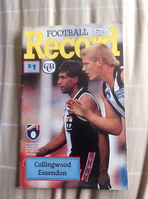 Afl Football Record Collingwood v Essendon 5/5/1990 Aussie Australian Rules