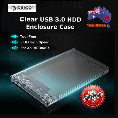 "ORICO USB 3.0 External 2.5"" SATA SSD HDD hard drive Tool-free Enclosure Case"