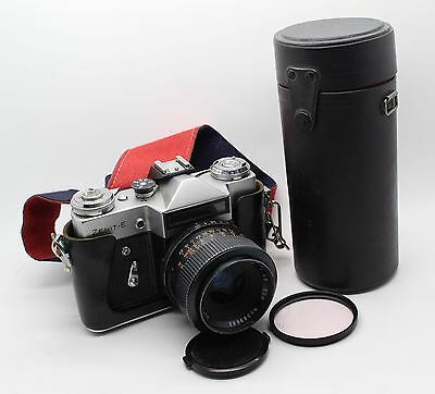 Zenit-E 35mm SLR Russian Zenith Camera with two lenses and bag – VGC and Tested