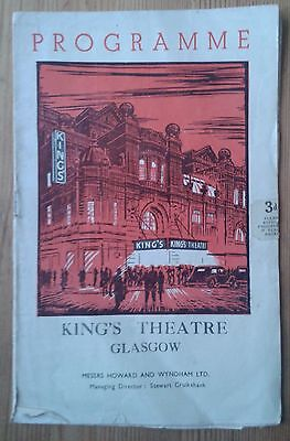 The Yeomen of the Guard programme Glasgow King's Theatre 1955 D'Oyly Carte Opera