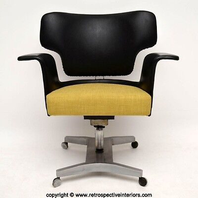 RETRO SWIVEL DESK CHAIR ARMCHAIR VINTAGE 1950's • £495.00