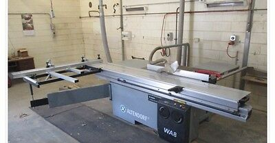 2009 Altendorf Panel Saw WA8 3 Phase Panel Saw with Qty of Saw Blades