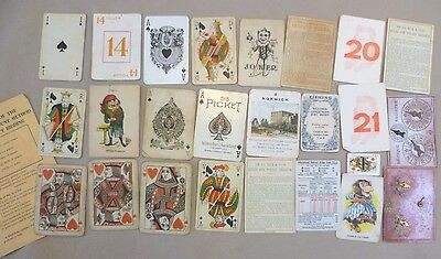 Card Game - Clearance lot of Various Loose Antique & Vintage Playing Cards etc