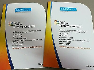 Microsoft Office 2007 Professional - Product Key and Install Media