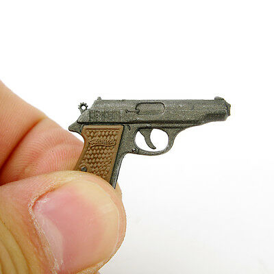"""Automatic Pistol Walther PPK Dragon Toys Weapon Fit 1/6 Scale Model 12"""" Figure"""
