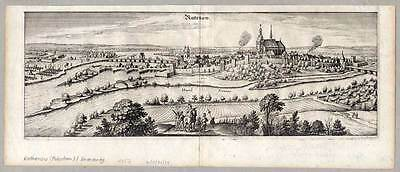 Rathenow a. d. Havel - Kupferstich Merian 1652
