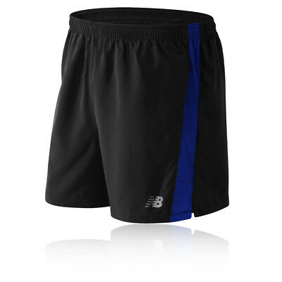 New Balance Accelerate 5 Inch Hombre Azul Negro Correr Deporte Shorts Pantalones