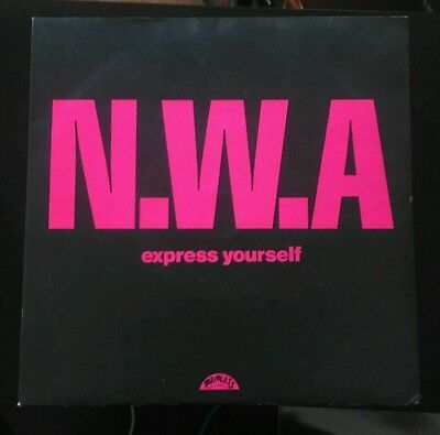 "N.W.A - Express yourself 7"" (Ex) *A1,B1* BRW 144. Priority records"