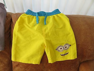 Despicable Me Minions Swimming Shorts - Bright Yellow - Age 5 - Boys