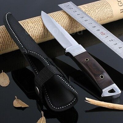 Outdoor Multi-function Military Stainless Steel Knife W/ Color-wood Handle OK