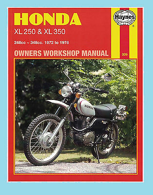 MAN209 Haynes Workshop Manual Honda XL XL250 & XL350 1972 to 1976