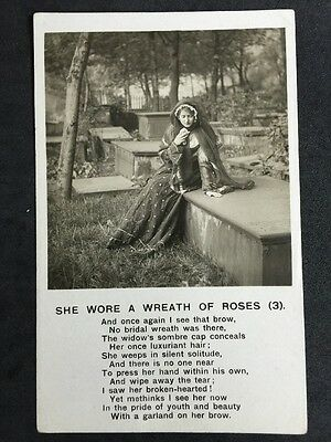 Vintage Postcard - Bamforth Song Card #86 - She Wore A Wreath Of Roses (3)