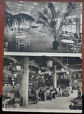 Butlins Clacton Holiday Camp, two postcards, written & posted Clacton 1948