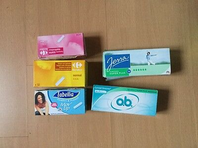 lot de 5 boîtes de tampons sans applicateur