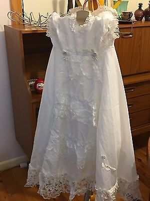 vintage christening gown 1970's