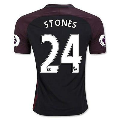 Manchester City Away jersey Soccer STONES 24 in size XL
