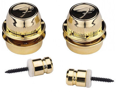 Fender FSLG1 F Strap Locks, Gold (Pair) (NEW)