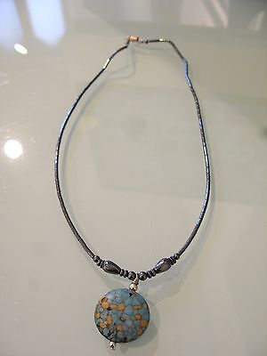 native american  necklace Colorado turquoise stone