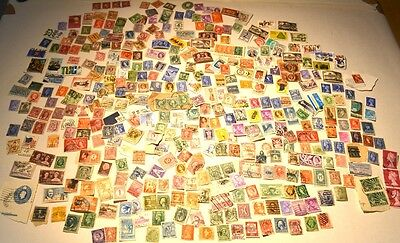 Large mixed lot of vintage antique British & world stamps
