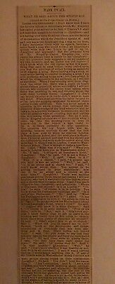 1874. Mark Twain speech news clipping! Full speech! Choice!