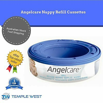 NEW Genuine Angelcare Disposal System Nappy Refill Cassettes Replacement Bags