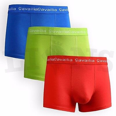 Men's Pack Of 3 Boxers Low Rise Brief 100% Authentic Boxer Trunks Underwear
