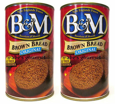 B&M Original Brown Bread in the Can (Pack of 2) 16 oz Cans