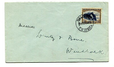 South West Africa 1933 2d. single stamp on cover sent Kalkfed to Windhoek
