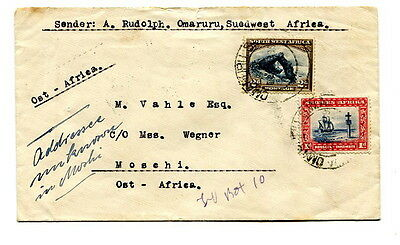 South West Africa 1939 3d. rate cover sent from Omaruru to Mosehi