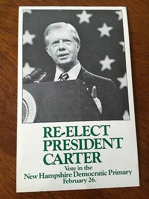 Official 1980 Jimmy Carter New Hampshire Campaign Committee Postcard