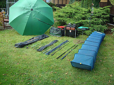 Complete  Fishing Kit Rods Reels `luggage Seat Box The Lot
