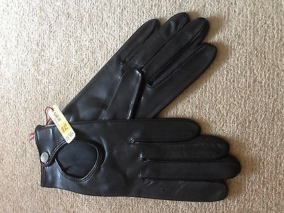 New with tags Dents Ladies Driving Gloves Black leather Size 7