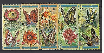 Burundi 1973 Sc C187//191 Flower-Butterfly Type of 1973 CTO MH See details