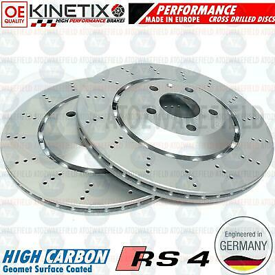 FOR AUDI RS4 B7 REAR LEFT RIGHT BRAKE DISCS 8E0615602D 8E0615601AB 324mm PAIR