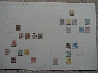 Luxembourg Early Collection Of 24 Stamps 1865-1881 On 2 Pages