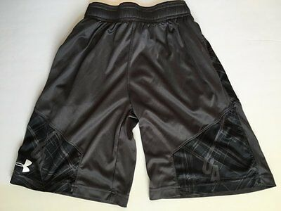 Under Armour Youth Large Gray Black Basketball Shorts