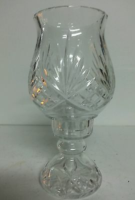 Beautiful Waterford Style Cut Crystal Hurricane Candle With Chimney