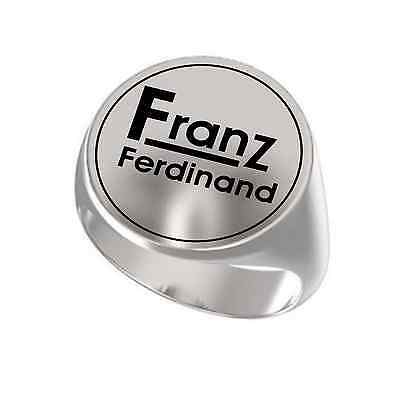 Franz Ferdinand Indie Music Rock Band Engraved Round 925 Sterling Silver Ring