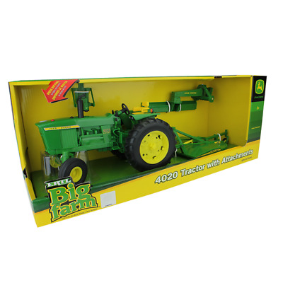 Ertl Big Farm John Deere 4020 Tractor with Attachments, 1:16 Scale