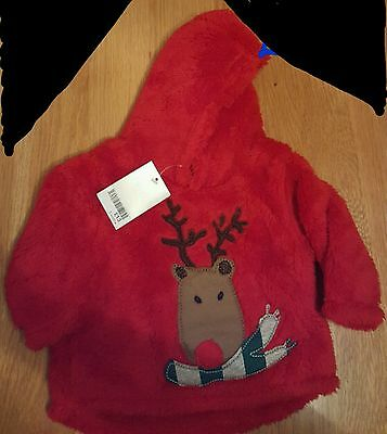 baby Next Christmas Fleece 3-6 months NWT