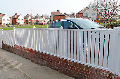 Picket Pvc Plastic Fence Panels Reinforced With Metal Profile Garden Fencing